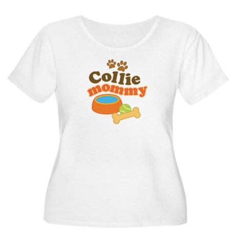 Collie Mommy Pet Gift Women's Plus Size Scoop Neck