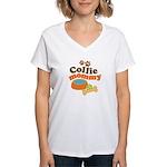 Collie Mommy Pet Gift Women's V-Neck T-Shirt