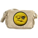 Winky Face Messenger Bag