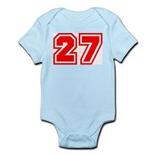 Varsity Uniform Number 27 (Red) Infant Creeper