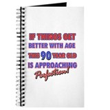 Funny 90th Birthdy designs Journal