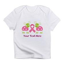 Personalized Breast Cancer Ladybug Infant T-Shirt