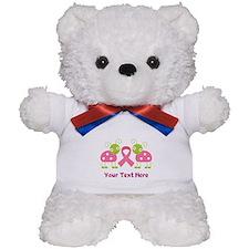 Personalized Breast Cancer Ladybug Teddy Bear