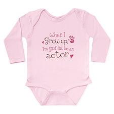 Kids Future Actor Long Sleeve Infant Bodysuit