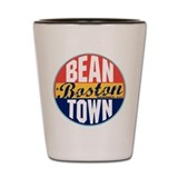 Boston Vintage Label Shot Glass