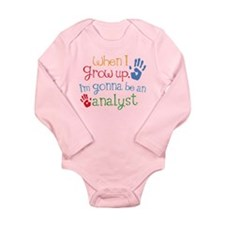 Kids Future Analyst Long Sleeve Infant Bodysuit