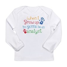 Kids Future Analyst Long Sleeve Infant T-Shirt