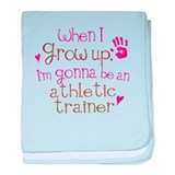 Kids Future Athletic Trainer baby blanket