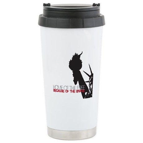 Because of the Brave Ceramic Travel Mug