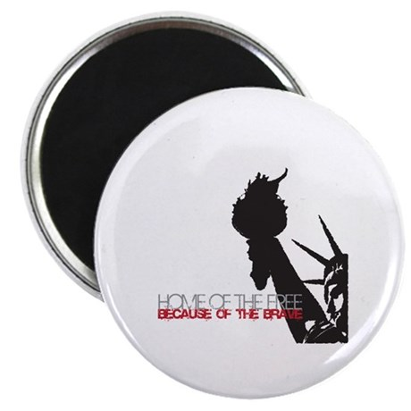 """Because of the Brave 2.25"""" Magnet (10 pack)"""