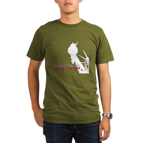Because of the Brave Organic Men's T-Shirt (dark)