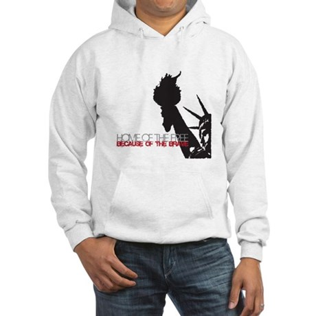 Because of the Brave Hooded Sweatshirt