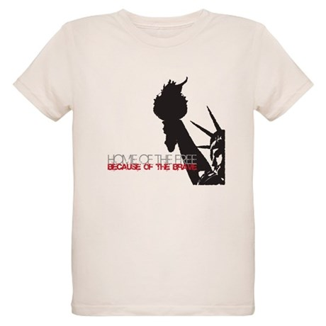 Because of the Brave Organic Kids T-Shirt