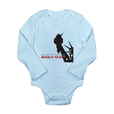 Because of the Brave Long Sleeve Infant Bodysuit