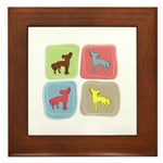 Chinese Crested Framed Tile