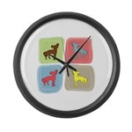Chinese Crested Large Wall Clock