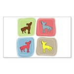 Chinese Crested Sticker (Rectangle 50 pk)