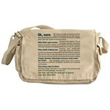 Cute Science humor Messenger Bag