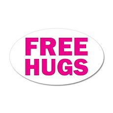 Free Hugs 22x14 Oval Wall Peel