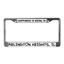 Happiness is Arlington Height License Plate Frame