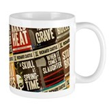 Castle Retro Novel Covers Collage Small Mug