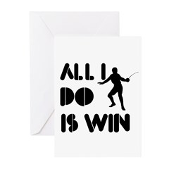 All I do is Win Fence Greeting Cards (Pk of 10)