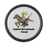 Naked Horseback - Yeah! Large Wall Clock