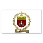 SONNIER Family Crest Sticker (Rectangle 50 pk)