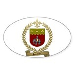 SONNIER Family Crest Sticker (Oval 10 pk)