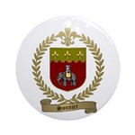 SONNIER Family Crest Ornament (Round)