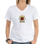 SONNIER Family Crest Women's V-Neck T-Shirt
