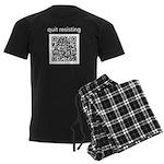 Quit Resisting Men's Dark Pajamas