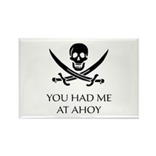 Pirate Ahoy Rectangle Magnet (100 pack)