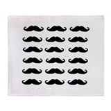 MOUSTACHES Throw Blanket