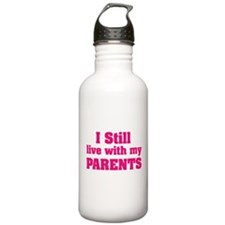 I still live with my parents Water Bottle