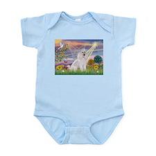 Cloud Angel White Poodle Infant Bodysuit