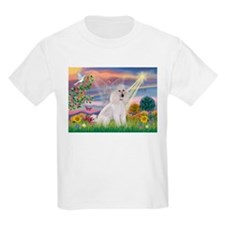 Cloud Angel White Poodle T-Shirt