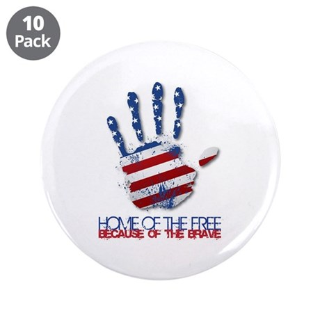 "Home of the Free 3.5"" Button (10 pack)"