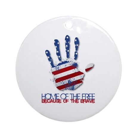 Home of the Free Ornament (Round)