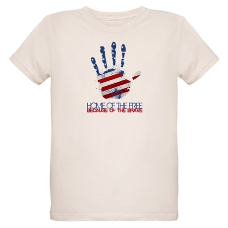 Home of the Free Organic Kids T-Shirt
