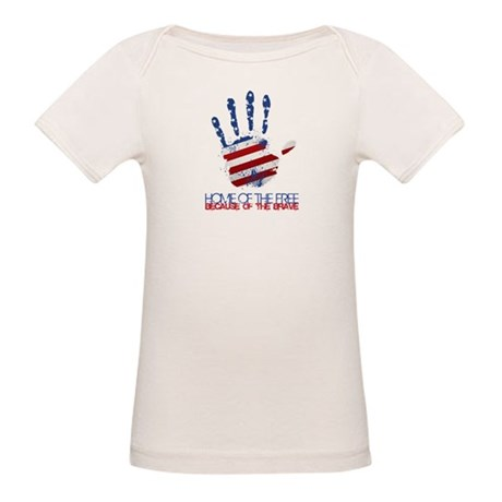 Home of the Free Organic Baby T-Shirt