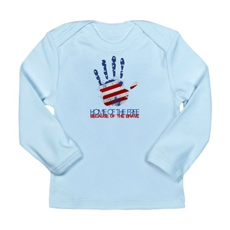 Home of the Free Long Sleeve Infant T-Shirt