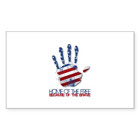 Home of the Free Sticker (Rectangle)