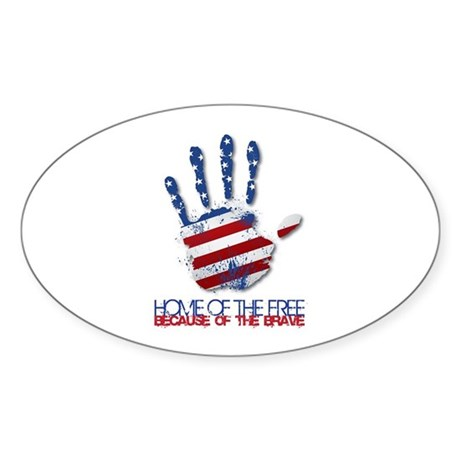 Home of the Free Sticker (Oval)
