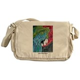 Green Winged Macaw Messenger Bag
