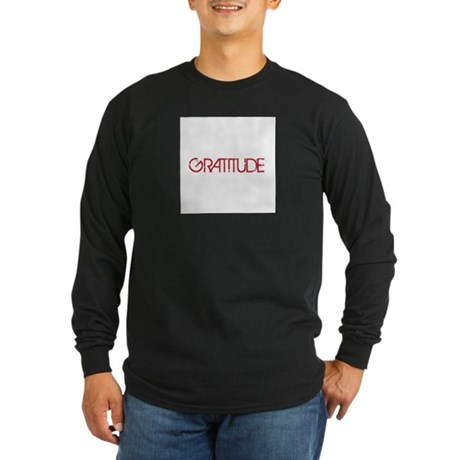 Gratitude Long Sleeve Dark T-Shirt
