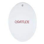 Gratitude Ornament (Oval)