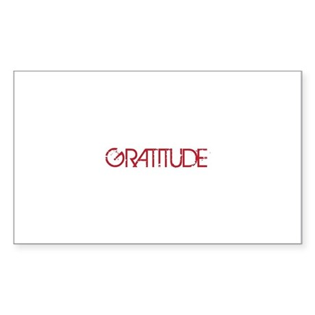 Gratitude Sticker (Rectangle)