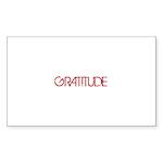 Gratitude Sticker (Rectangle)