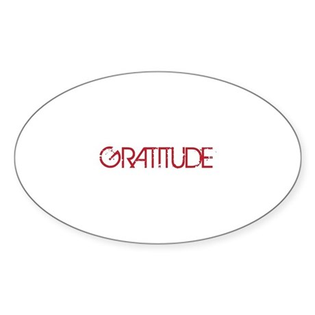 Gratitude Sticker (Oval)